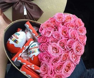 rose, chocolate, and gift image