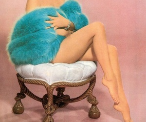 blue, chic, and pinup girl image