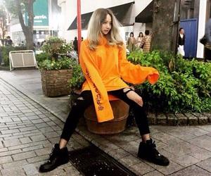 asian, korean, and orange image