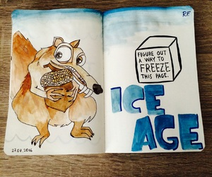 art, ice age, and wreck this journal image