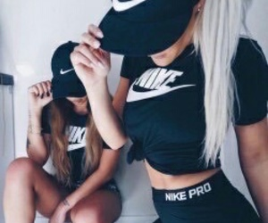 nike, girl, and friends image