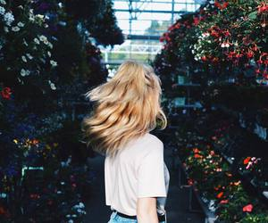 flowers, girl, and blonde image