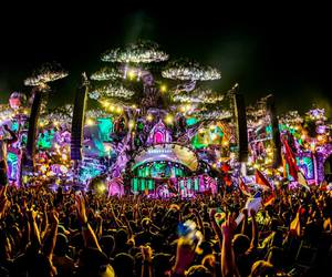 music festival, rave, and love image