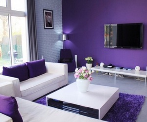 room, home, and purple image