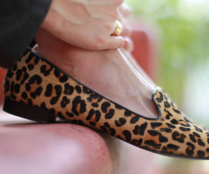 fashion, flats, and leopard image