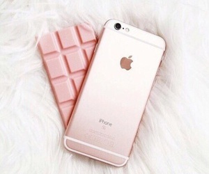iphone, pink, and chocolate image