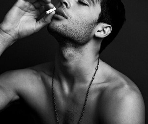 boy, Hot, and cigarette image