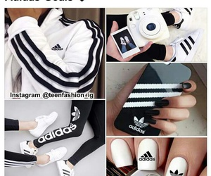 adidas, clothes, and nail image