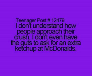 crush, teenager post, and McDonalds image