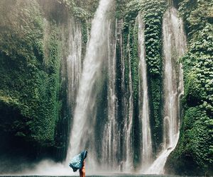 indonesia, waterfalls, and outdoors image