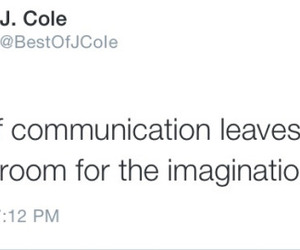 tweet, words, and j cole image