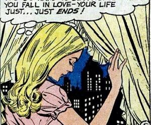comic, pop art, and sad image