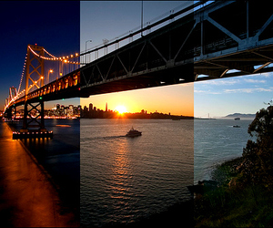 afternoon, morning, and bridge image