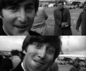 black and white, the beatles, and funny image