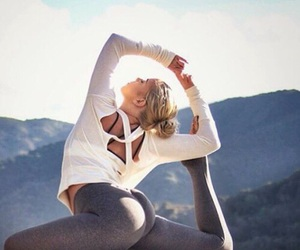 yoga, beauty, and sport image