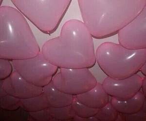 pink, balloons, and heart image