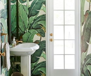 bathroom and green image