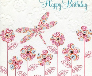 birthday card, dragonfly, and embossed image