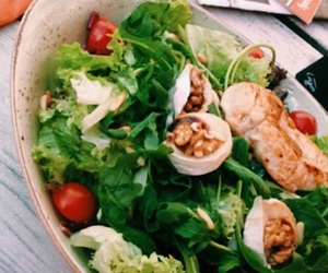Chicken, salad, and vegetables image