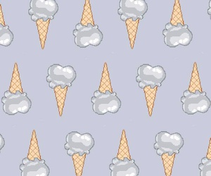 pattern, background, and ice cream image