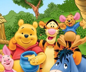 winnie the pooh, piglet, and tiger image