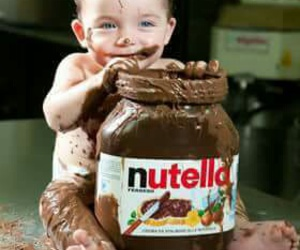 nutella, baby, and chocolate image