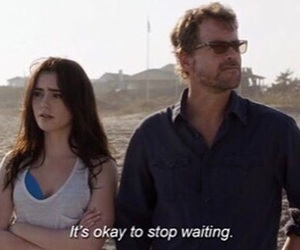 quote, lily collins, and stuck in love image
