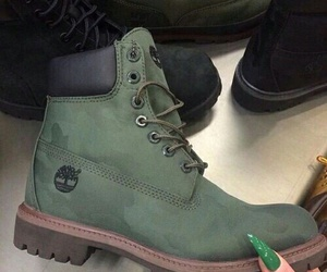 shoes, green, and timberland image