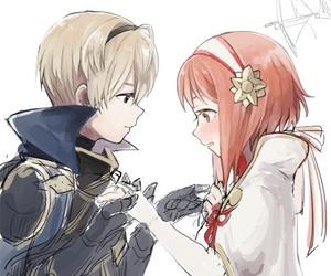 blush, sakura, and anime couple image