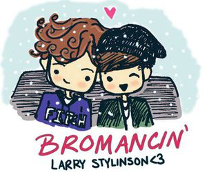 larry stylinson, one direction, and louis tomlinson image