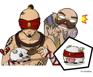poro, braum, and lee sin image