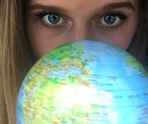 eyes, girl, and idk image