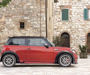 mini cooper and red image