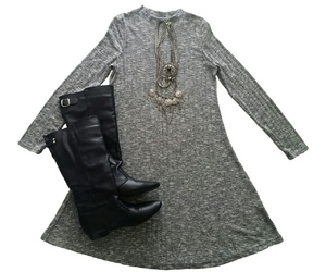 accessories, black boots, and fashion image