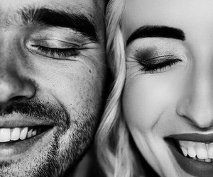 couple, smile, and love image