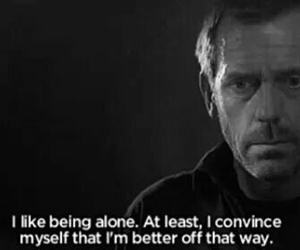 house, lonly, and being alone image