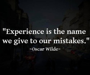 experience, mistakes, and oscar wilde image