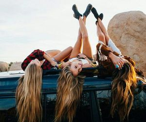 car, hair, and friends image