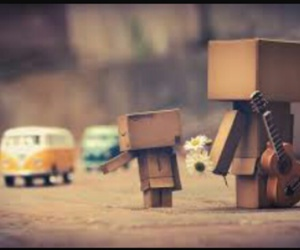 car, danbo, and child image