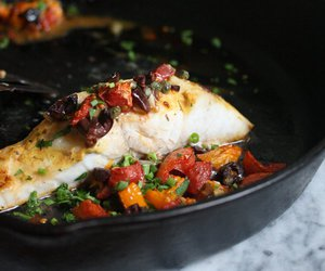 fish, stew, and tomato image