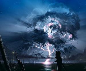art, light, and lightning image