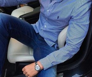 jeans, watch, and lines image