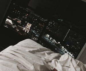 bed, city, and goals image