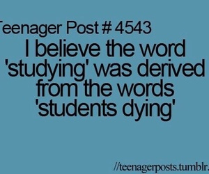 funny, teenager post, and student image