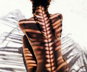 bikini, sunbathing, and girl image