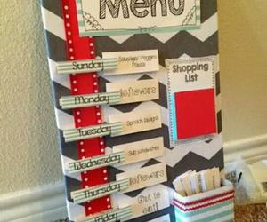 diy, board, and menu image