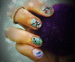 spring, flowerss, and nailart image
