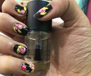 roses, nailart, and loveflower image