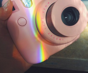 rainbow, pink, and camera image
