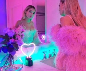 girl, pink, and neon image